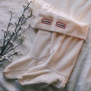 Cream Hunter Boot Socks